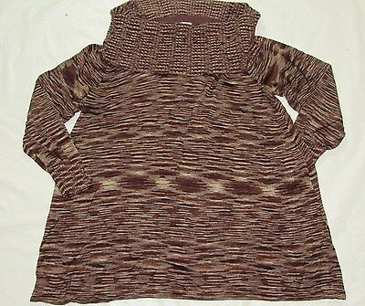 WOMENS MATERNITY cowl neck LONG SLEEVE SHIRT TOP= MOTHERHOOD = SIZE XL = ME80