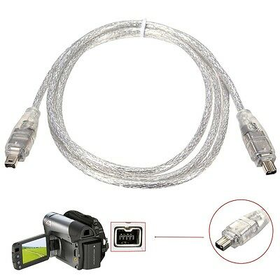 1.2M IEEE 1394 Standard 4 Pin Male to 4 Pin Male FireWire DV Data Cable Adapter