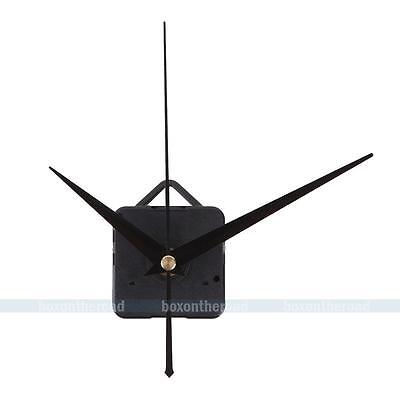 Silent Mechanism Quartz Wall Clock Movement DIY Repair Parts Black Hands Motor