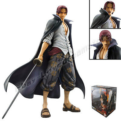 """One Piece P.O.P DX Red-Haired Pirates Shanks 24cm/9.5"""" PVC Figure New In Box"""