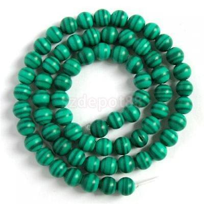 6mm RARE Green Banded Malachite Gem Stone Beads 15.5in