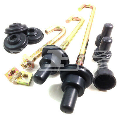 M6 M8, Hook J Bolts + Square Nuts + Spat Washers + Top Hats Zinc Roofing Gutter