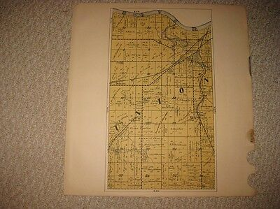 Antique 1920 Union Township Tippecanoe County Indiana Map W Land Owners Rare Nr