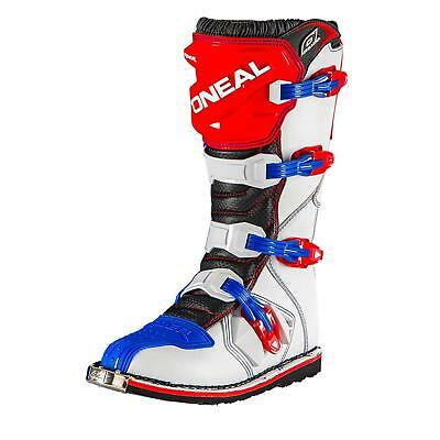ONeal Rider Boot MX Cross Stiefel Blau Rot Weiß Motocross Motorrad Enduro Boots
