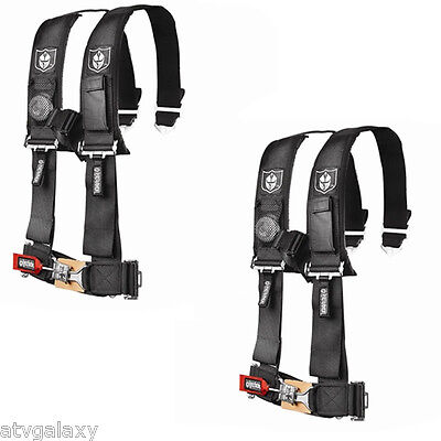 "Pro Armor 4 Point Harness 3"" Pads Seat Belt PAIR BLACK Polaris RZR 900XP 900S"