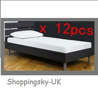 Waterproof Single Bed Fitted Mattress Cover Protector Plastic TopChoice x 12 pcs
