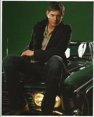 Supernatural Jensen Ackles Seated on Car 8 x 10 Photo