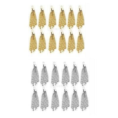 12 Tassel Charms Pendants Jewelry Findings For Necklace Earring Making DIY Craft