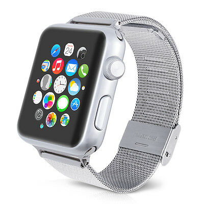 kwmobile STRAP FOR APPLE WATCH 42MM (SERIES 1 SERIES 2) SILVER (DESIGN 1) METAL