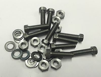"2ba x 3/4"" hexagon head bolts, nuts and washers steel pack of 10"