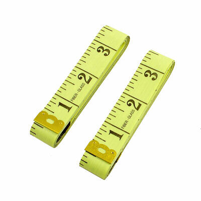 """Gold Tone Metal Dual Ends Yellow Clothing Rulers 60"""" 150cm for Dressmaker Tailor"""