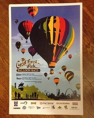 "OFFICIAL POSTER GREAT FOREST PARK BALLOON RACE 2015 12"" x 18"""