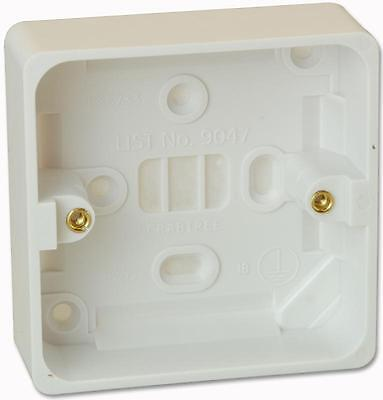 Crabtree - 9047 - 1 Gang 29Mm Moulded Box Surface Mount