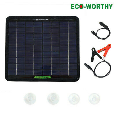 ECO Portable 5W Solar Panel 12V Power System Maintainer Car Boat Battery Charger