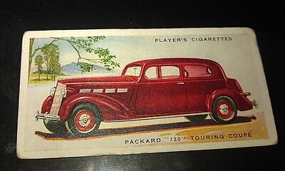 1936 PACKARD 120     -     Orig Cigarette Card UK