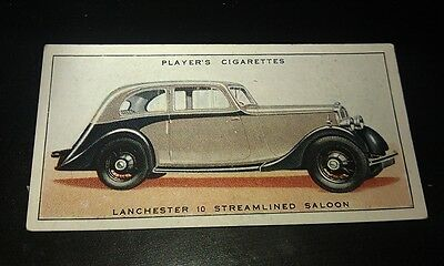 1936 LANCHESTER TEN SALOON  -     Orig Cigarette Card UK