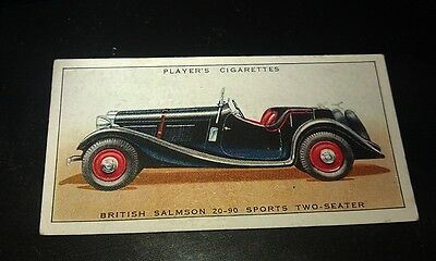 1936 SALMSON SPORTS    -     Orig Cigarette Card UK