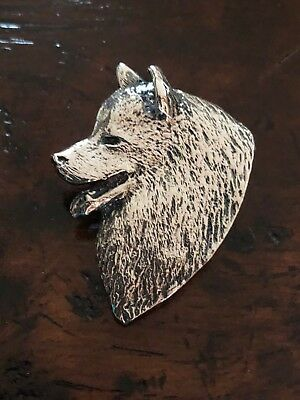 "NWOT $195 Sterling Silver Samoyed Head Study Pin Pendant Millcreek 1.5"" x 1 1/8"""