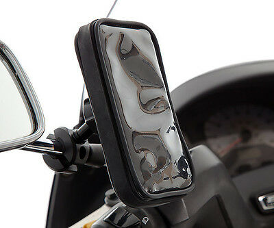 Scooter Moped 8-16mm Mirror Stem Mount + Water Resistant Case for Galaxy Alpha