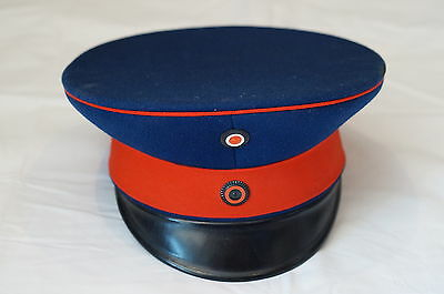 Imperial Germany Wurttemburg Officers Visor with Hat Box Pre War Blue