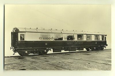ry343 - GWR Railway Carriage , King George - postcard