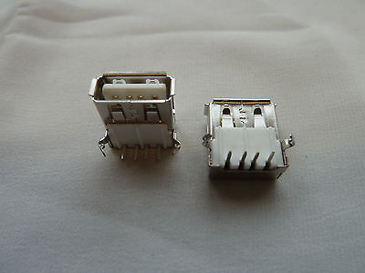 2 USB Connectors PCB Mounting Single Computer Repair PC (150)
