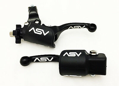 Asv Unbreakable F3 Shorty Black Clutch + Brake Levers W/ Dust Covers Trx450R