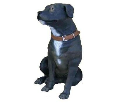 Staffordshire Terrier Dog Sitting Statue Prop Display Farm Animal