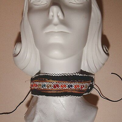 BellyDance ATS Costume Embroidered CHOKER Kuchi Tribe 798h10