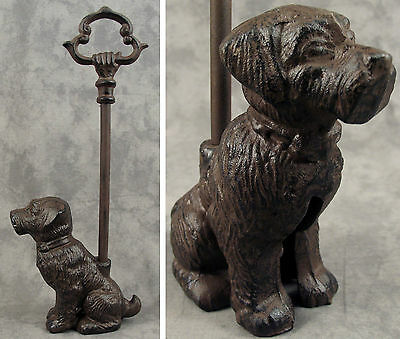 SITTING DOG Cast Iron DOOR PORTER DOORSTOP ~DECORATIVE CARRY HANDLE~
