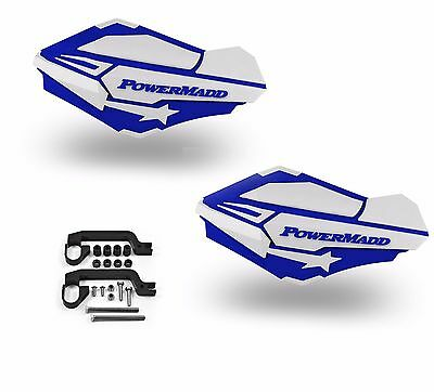 PowerMadd SENTINEL Handguard Hand Guards KIT Blue White Polaris ATV 34421 34452