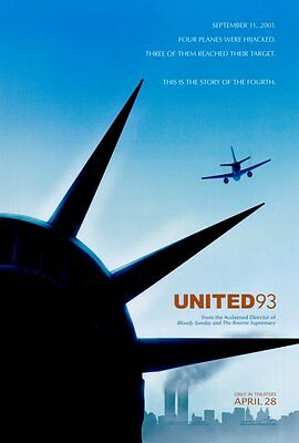 United 93 Double Sided Original Movie Poster 27x40 inches