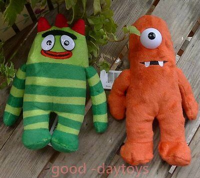 "New Set Of 2Pcs Muno And Brobee  Yo Gabba Gabba 7"" Stuffed Plush Doll"