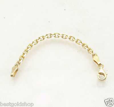 """1.5/"""" 14K Yellow Gold 2.3mm Cable Chain Necklace Extender"""