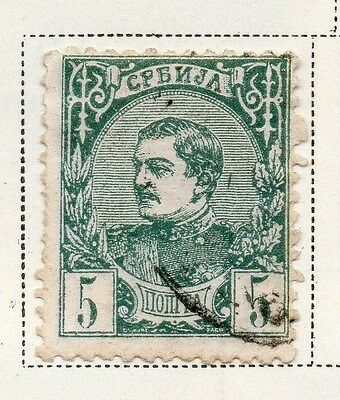 Serbia 1881 Early Issue Fine Used 5p. 008245