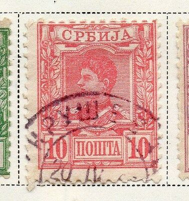 Serbia 1890 Early Issue Fine Used 10p. 008249