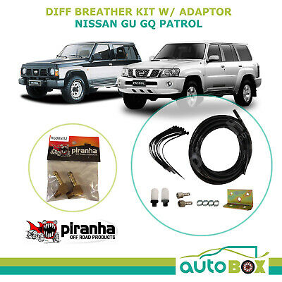 Piranha 4WD Diff Breather Kit Offroad for Nissan GU GQ Patrol Front Rear adaptor