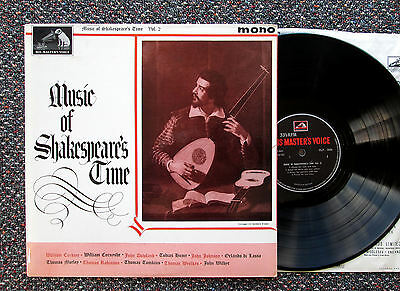 CLP 1634 Music of Shakespeare's Time Vol. 2 1963 NM/EX Mono LP