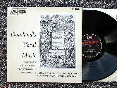 CLP 1894 Dowland's Vocal Music Janet Baker Raymond Leppard 1965 NM/EX