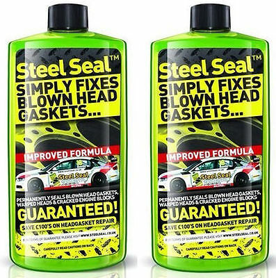 STEEL SEAL 500ml SIMPLY FIXES BLOWN HEAD GASKETS x2 bottles