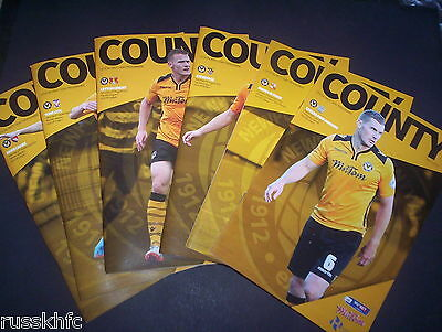 2015/16 - Newport Home Programmes Choose From
