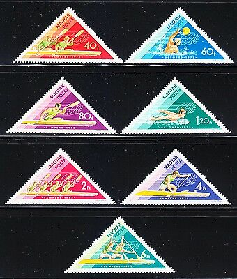 Hungary 1973 MNH** Mi 2919-25 Sc 2261-67 Hungarian victories in water sports