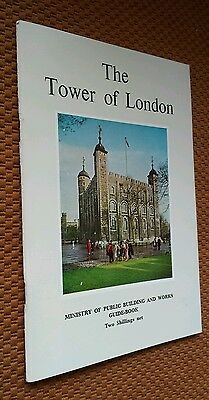 1963 Tower of London Tourist Guide & Map VTG England Her Majesty's Stationery