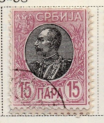 Serbia 1905-08 Early Issue Fine Used 15p. 008282