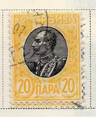 Serbia 1905-08 Early Issue Fine Used 20p. 008283