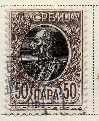 Serbia 1905-08 Early Issue Fine Used 50p. 008286