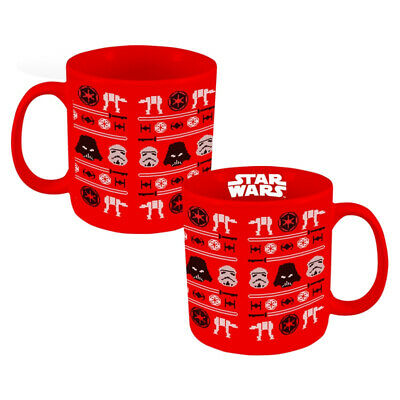 Star Wars Ugly Sweater Imperial Icons Design Holiday 20 oz Ceramic Mug NEW BOXED