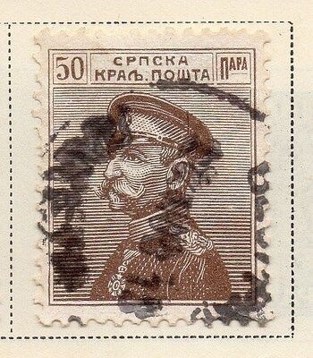 Serbia 1911-12 Early Issue Fine Used 50p. 008298