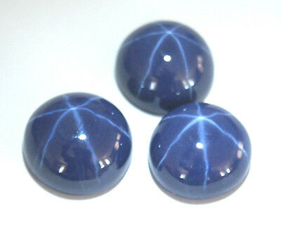 Gorgeous Top grade Round Cabochon Synthetic Star Blue Sapphire, Various Sizes