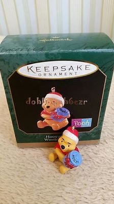 Hallmark 1997 Honey of a Gift Winnie the Pooh Miniature Christmas Ornament